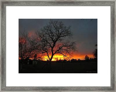 Sunset 02 18 13 Framed Print by Joyce Dickens