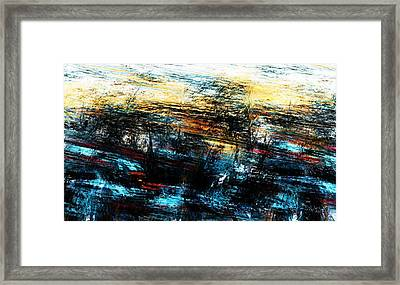 Framed Print featuring the digital art Sunset 083014 by David Lane