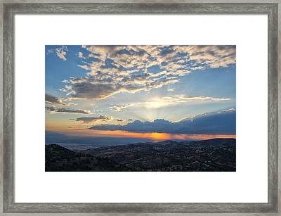 Sunset 101 Framed Print