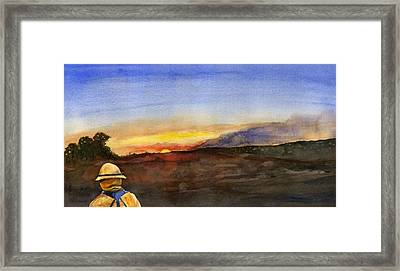 Sunset 18 Fires Framed Print