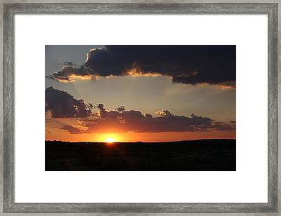 Framed Print featuring the photograph Sunset 2 by Elizabeth Budd