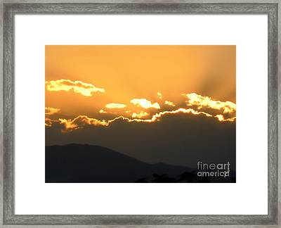 Framed Print featuring the photograph Sunset 3 by Ze  Di