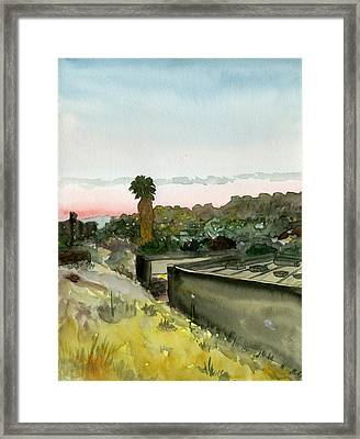Sunset 25 Lemon Grove Framed Print