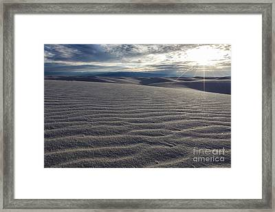 Sunset 3 - White Sands Framed Print by Scotts Scapes