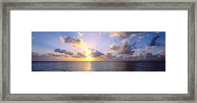 Sunset 7 Mile Beach Cayman Islands Framed Print