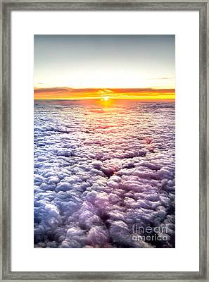 Sunset Above The Clouds Framed Print by Az Jackson