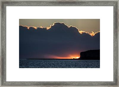 Sunset Above The Valdes Peninsula Framed Print by Jay Dickman