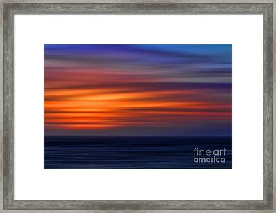 Sunset Abstract Framed Print by Clare VanderVeen