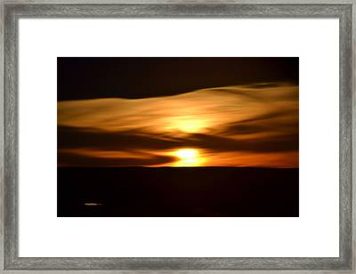 Framed Print featuring the photograph Sunset Abstract I by Nadalyn Larsen