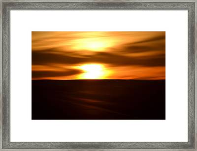 Framed Print featuring the photograph Sunset Abstract II by Nadalyn Larsen
