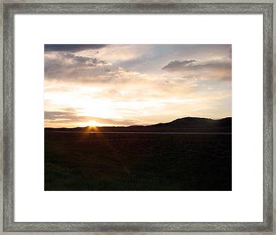 Framed Print featuring the photograph Sunset Across I 90 by Cathy Anderson