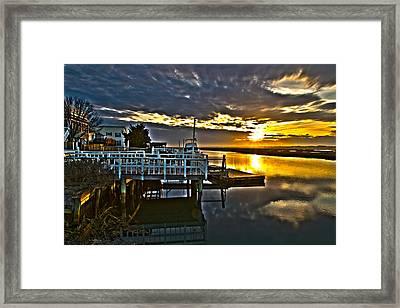 Sunset Across The Inlet Framed Print