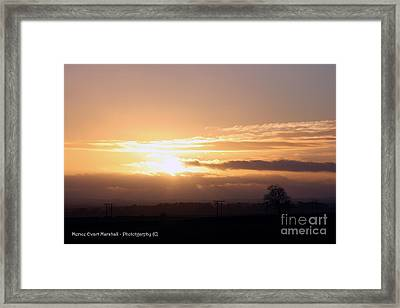 Sunset Across The Wolds Framed Print by Merice Ewart
