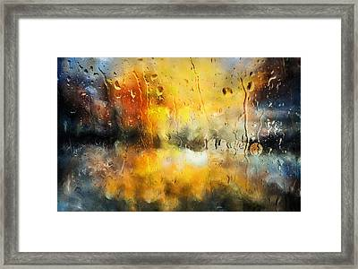 Sunset After The Storm Abstract Framed Print