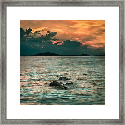 Sunset Framed Print by Akos Kozari