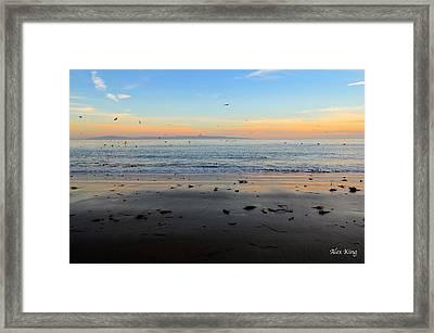 Sunset Framed Print by Alex King