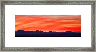 Framed Print featuring the photograph Sunset Algodones Dunes by Hugh Smith