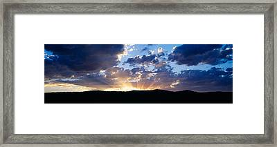Sunset Along Route 95, Idaho Framed Print by Panoramic Images