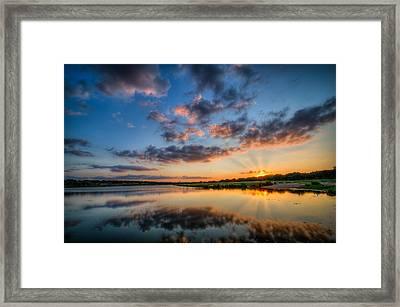 Sunset Along The Brushy Framed Print by Jeffrey W Spencer