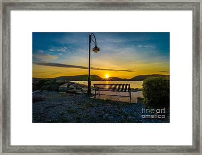 Sunset Along The Hudson Valley Framed Print