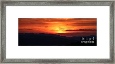 Sunset Framed Print by Amanda Mohler