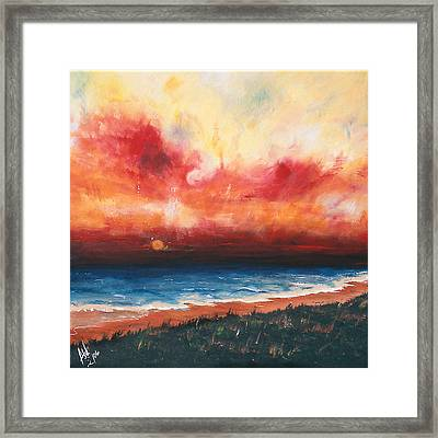 Sunset Framed Print by Amy Williams