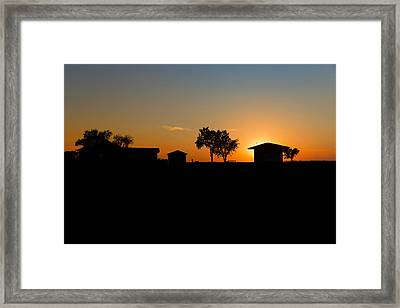 Sunset And Farm  Alliance Ne Framed Print by Troy Montemayor