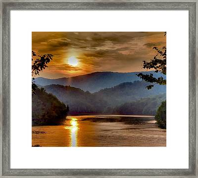 Sunset And Haze Framed Print