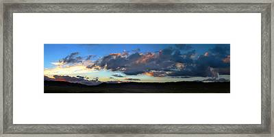 Sunset And Silhouettes - Panoramic Framed Print by Glenn McCarthy
