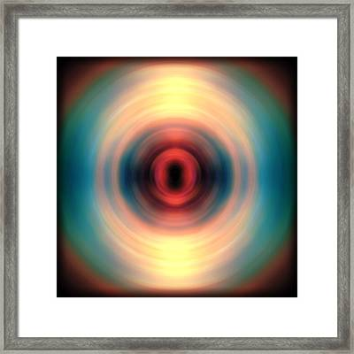 Sunset And Water Spin Art 12 Framed Print by Jennifer Rondinelli Reilly - Fine Art Photography