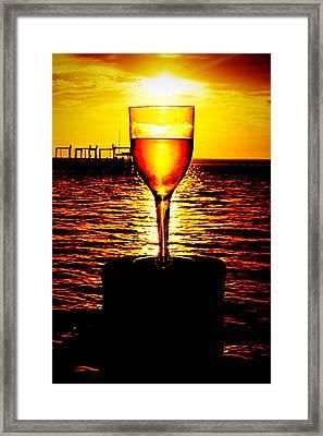 Sunset And Wine Framed Print
