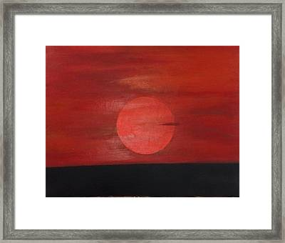 Sunset Framed Print by Andrea Friedell