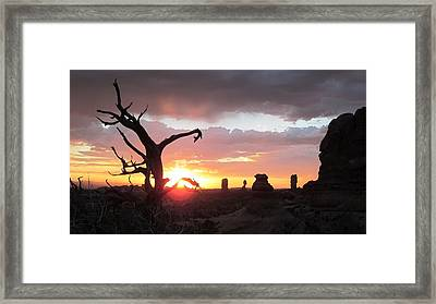 Sunset Arches National Park Framed Print