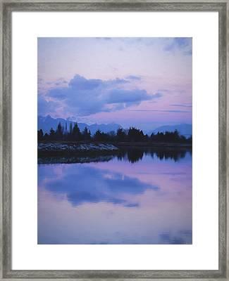Sunset Art - Nature's Painting Framed Print by Jordan Blackstone