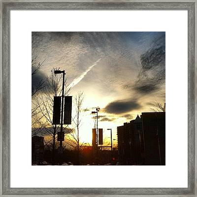Sunset At Academic Center Framed Print by Toni Martsoukos