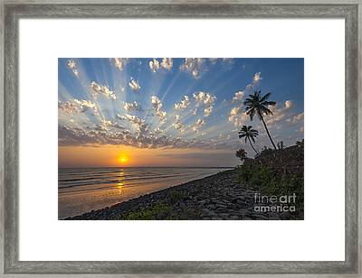 Sunset At Alibag, Alibag, 2007 Framed Print by Hitendra SINKAR