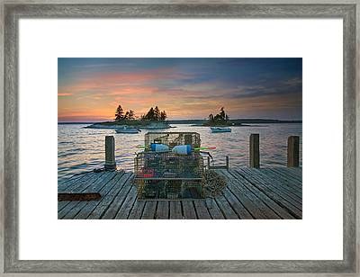 Sunset At Allen's Dock Framed Print by Darylann Leonard Photography