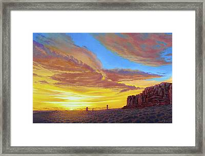 Sunset At Arches Framed Print