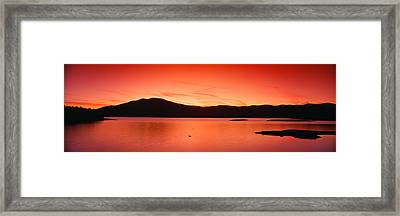 Sunset At Ashokan Reservoir, Catskill Framed Print