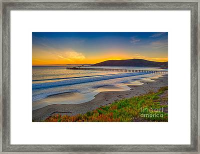 Sunset At Avila Beach Framed Print