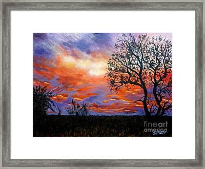 Sunset At Balule Framed Print