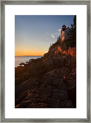 Sunset At Bass Head   Framed Print by Priscilla Burgers