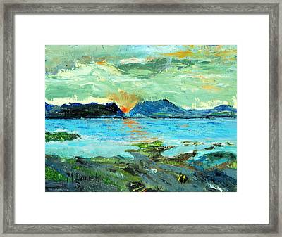 Sunset At Bic Framed Print