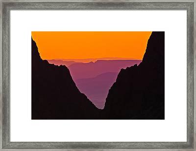 Sunset At Big Bend Framed Print