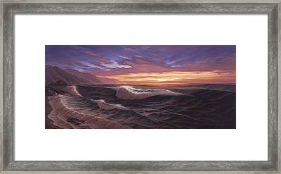 Sunset At Big Sur Framed Print