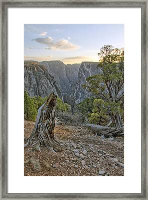 Sunset At Black Canyon Framed Print