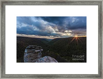 Sunset At Blackwater Falls State Park Framed Print by Amber Kresge