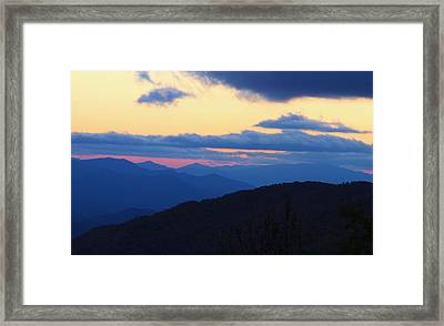 Sunset At Blue Ridge Parkway In North Carolina Framed Print by Dan Sproul