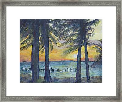 Sunset At Buho's Framed Print by Nick Vogel
