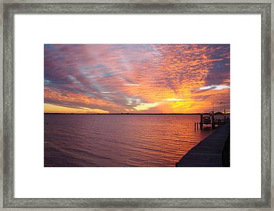 Sunset At Cafe Coconut Cove 2 Framed Print